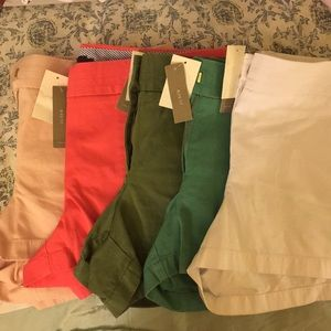 "Lot of 5 J Crew 3"" inseam Chino Shorts"